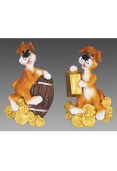 Магнит. Пес Шарик с золотыми монетами (HCD17244)