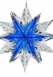 Звезда из фольги сине-серебряная малая