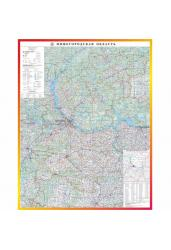 Карта Нижегородской области настенная, общегеографическая, 70*90 см