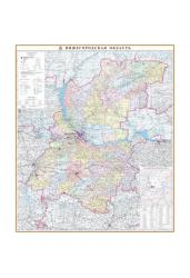 Карта Нижегородской области, настенная, административная, 70*90 см