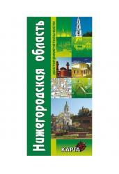 Карта Нижегородской области. Достопримечательности