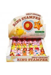 Детская игровая печать (штамп) колечко Ring Stamper, 48 штук в ассортименте (арт. DB-406)