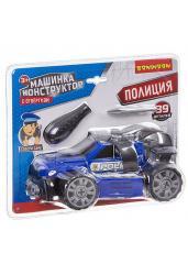 """Машинка-конструктор с отверткой """"Полиция"""""""