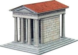 Умбум. Храм Ники Аптерос. Сборная модель из толстого картона