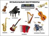 Плакат. Музыкальные инструменты