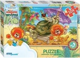 Пазлы-104. Львенок и черепаха