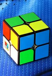Кубик рубик 2*2 черный с цв. накл. (CB2201)