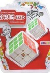 Кубик рубик 3*3 белый с цв. накл, бол. +мал. (CB33032)