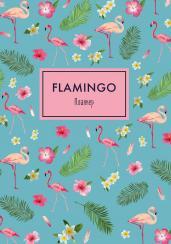 Блокнот-планер. Mindfulness. Фламинго (формат А4, на скобе, голубая обложка) (Арте)