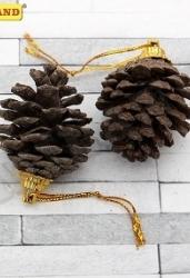 Набор ёлочных подвесок. Лесные шишки (4, 5 см)