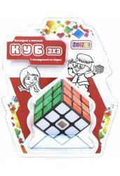 Кубик Рубика 3х3 черный с цветными наклейками (CB3301)
