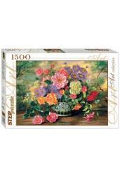 Пазлы-1500. Цветы в вазе