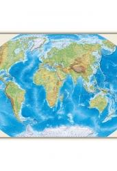 Карта Мира. Физическая. Масштаб 1:35