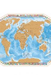 Карта со стирающимся слоем. Мир моих путешествий