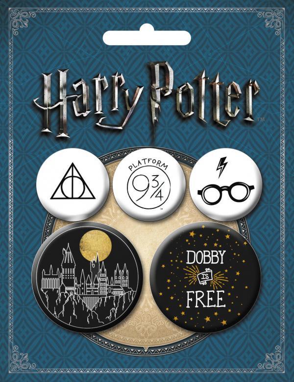 Набор значков.Гарри Поттер 5 шт.(оф.2)