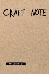 Craft Note.Экоблокнот для творч.с крафт.стр./тв