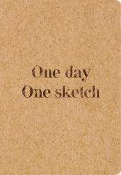 Скетчбук.One day,one sketch(обложка крафт)